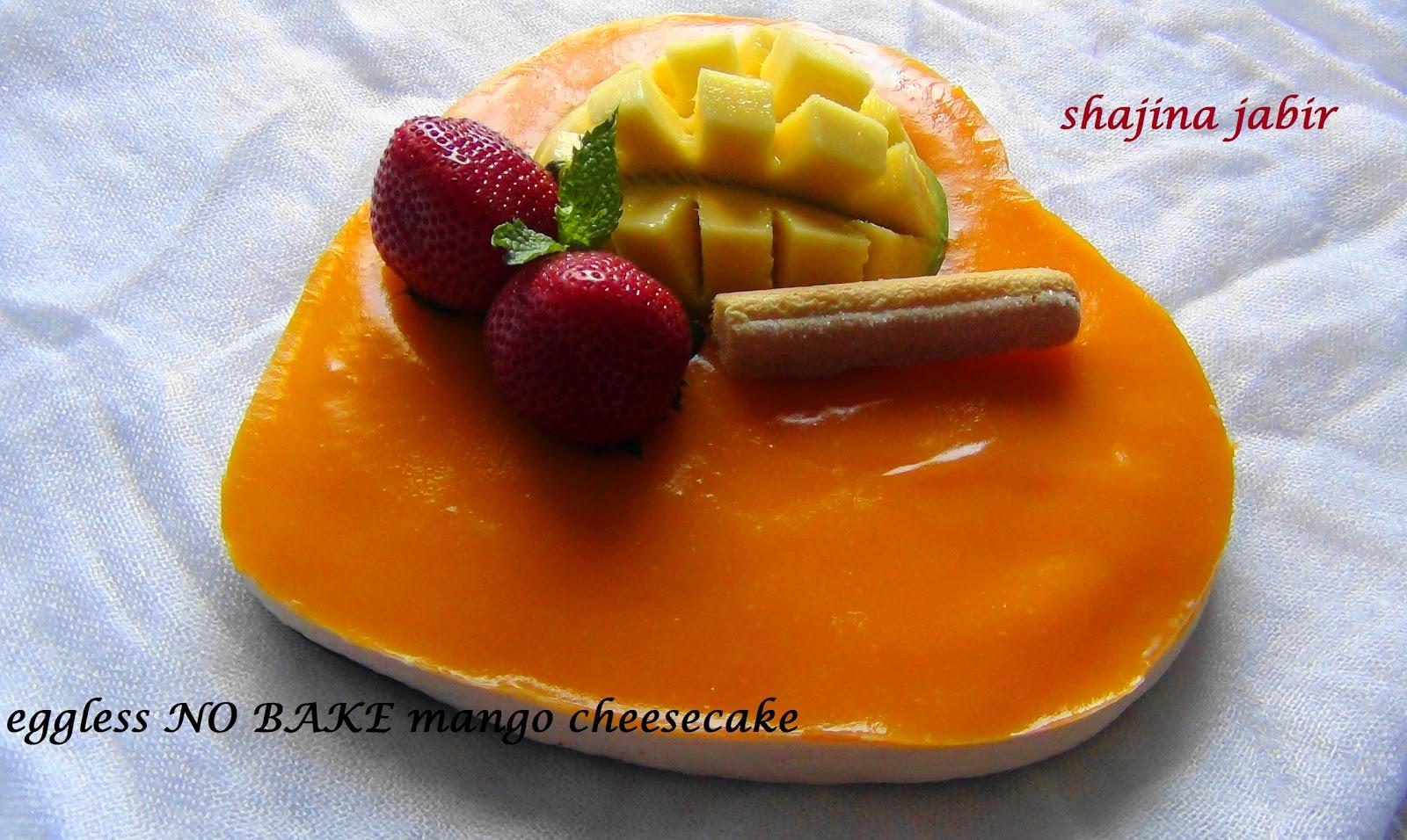 Recipesmine Eggless No Bake Mango Cheesecake Recipe