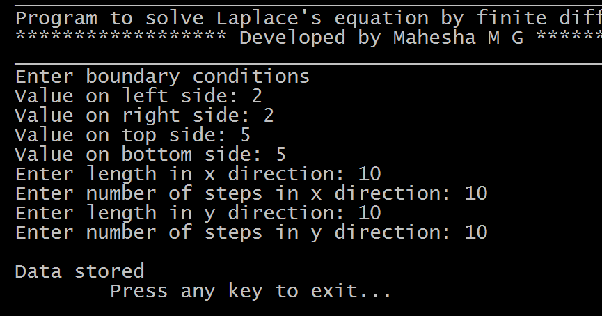 Computational Physics: C code to solve Laplace's Equation by