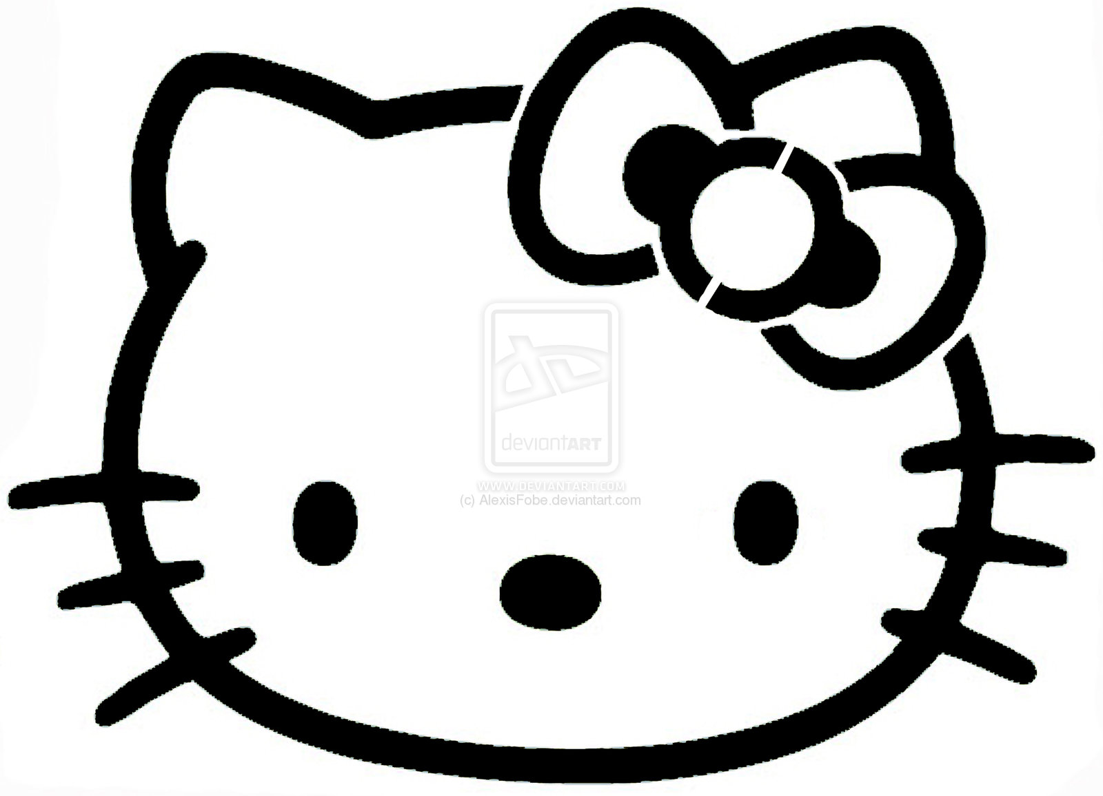 Amazing stencils hello kitty stencil for Hello kitty mask template
