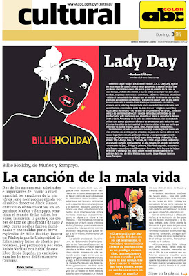 Ruben Varillas: BIllie Holiday de Muñoz y Sampayo, en el Suplemento Cultural de ABC Color