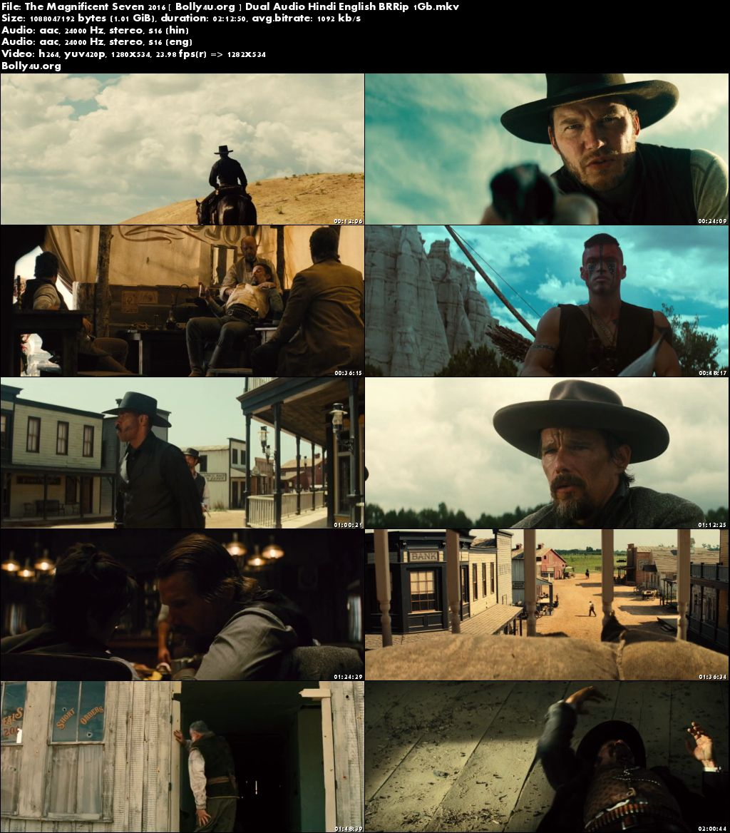 The Magnificent Seven 2016 BRRip 1GB Hindi Dual Audio 720p Download