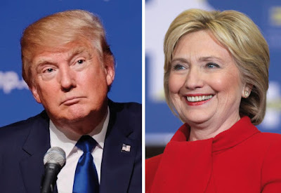 US national polls: Hillary Clinton and Donald Trump now virtually equal in latest polling results
