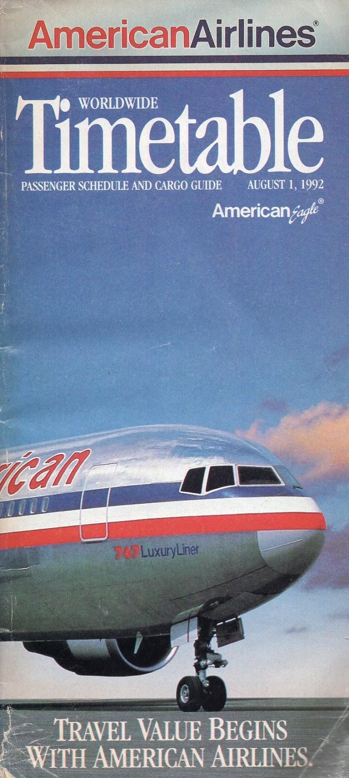 Airline Memorabilia American Airlines 1992
