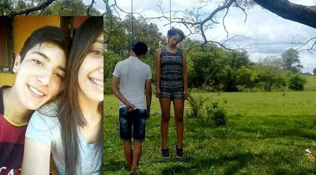 IMAGENS CHOCANTES -- ADOLESCENTES PROIBIDOS PELOS PAIS DE NAMORAREM COMETEM O SUICÍDIO JUNTOS VEJA