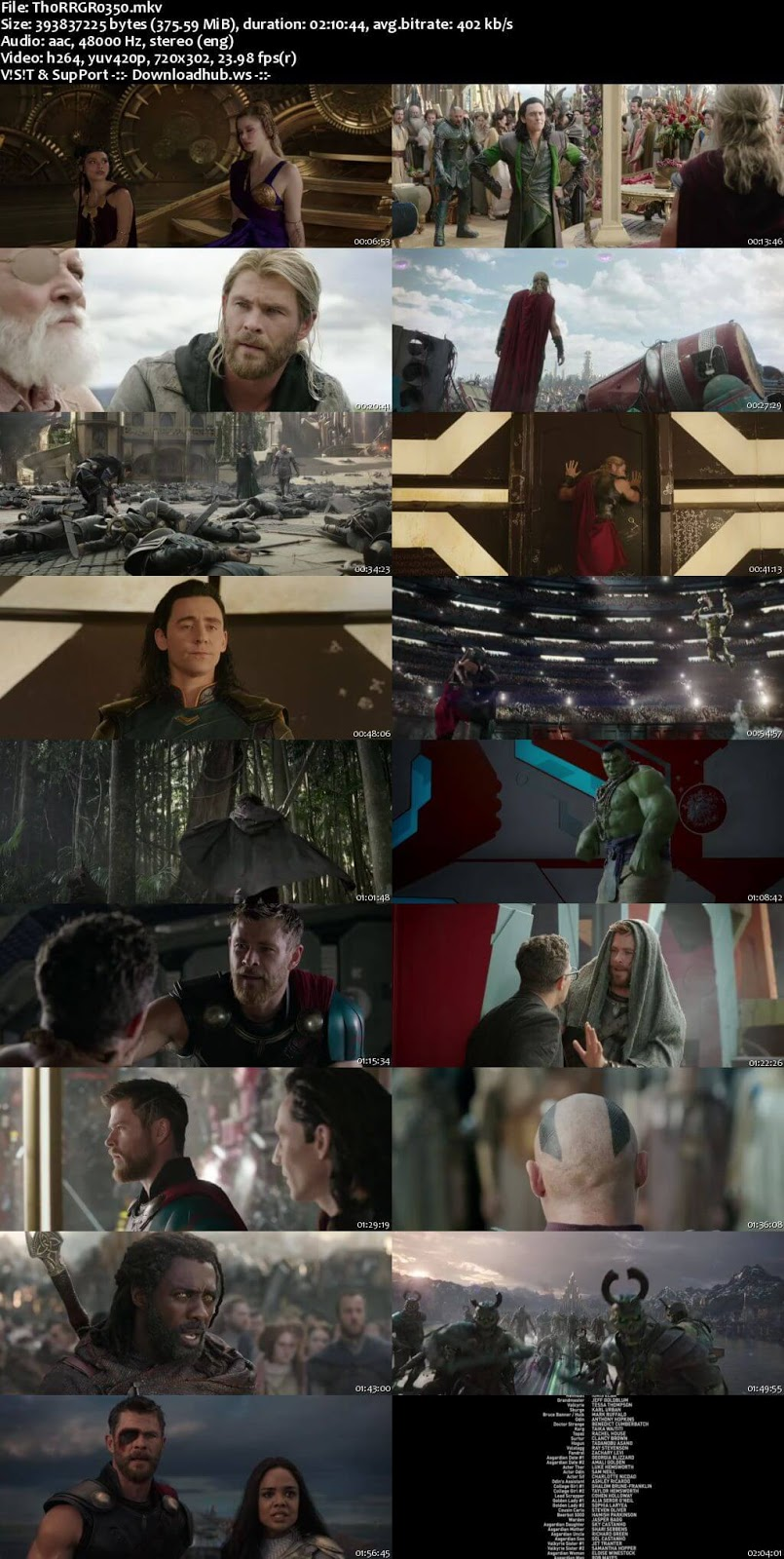 Thor Ragnarok 2017 English 480p Web-DL ESubs