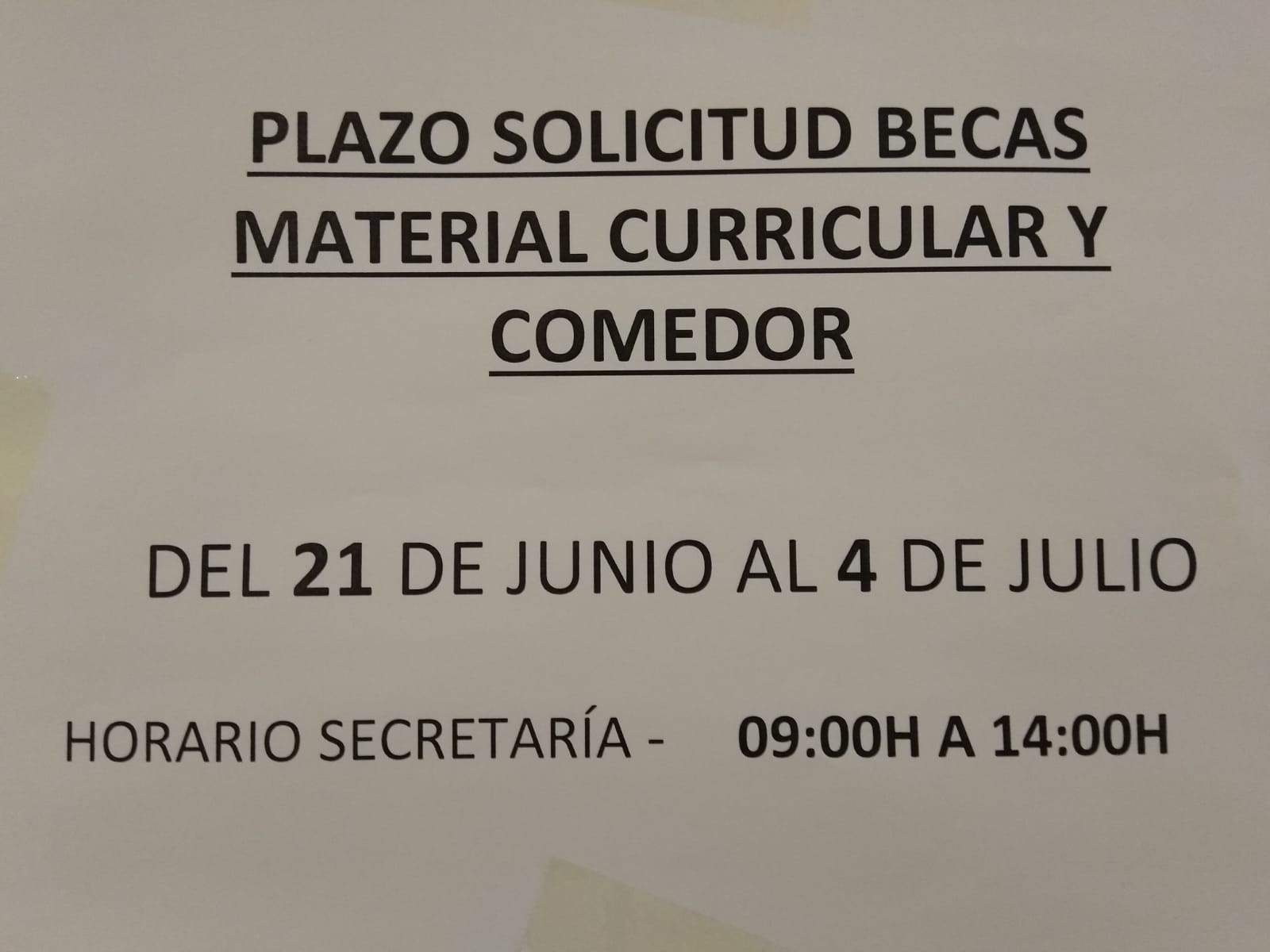 APA CP SAN BRAULIO (Zaragoza): BECAS COMEDOR Y MATERIAL CURRICULAR