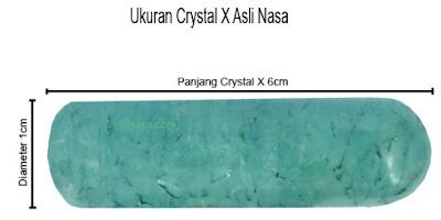 ukuran crystal x panjang 6cm dan diameter 1cm - ptnasa.com