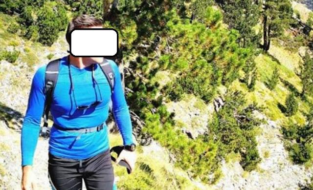 Ilia Dhimitri climbing on Mount