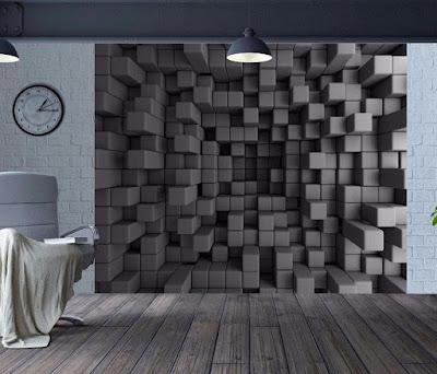 3D Optical Illusion Cubes Wallpaper