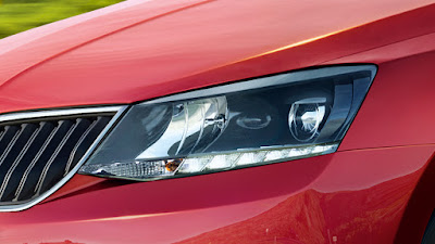 2017 Skoda Rapid Monte Carlo front Headlight