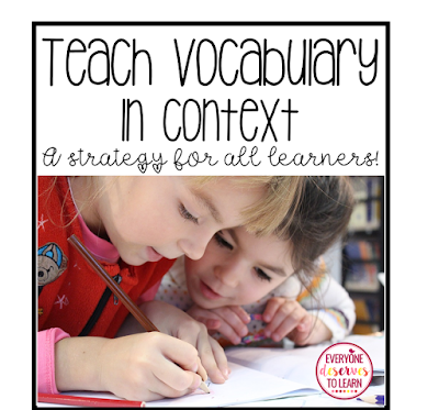 teach vocabulary in context