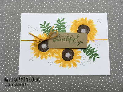 Make this simple sunflower card using the Painted Harvest stamp set by Stampin' Up!