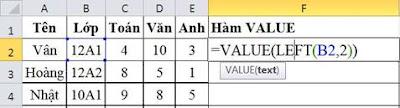 tinhoccoban.net - Hàm Value trong Excel