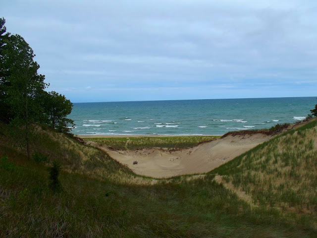 Indiana Photo of the Day -Lake Michigan Through the Dunes