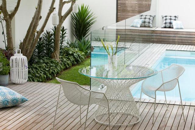 Piscina no quintal jeito de casa blog de decora o e for Como decorar un patio con pileta