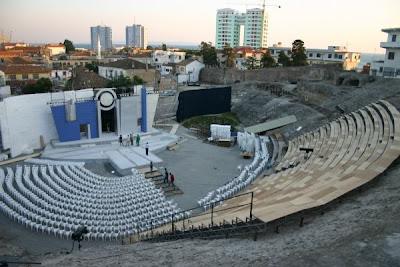 Anfiteatro en Durres, Albania