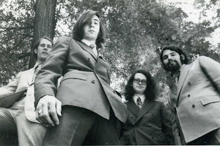An early band photo taken for Billboard magazine before Mike Beers joined as drummer. Pictured third from the right is Steven Curtis, the band's technician at the time.  Photo courtesy of Craig Pedersen.