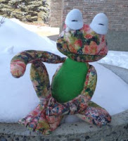 Angela Jardine Fritz Frog crafted by eSheep Designs