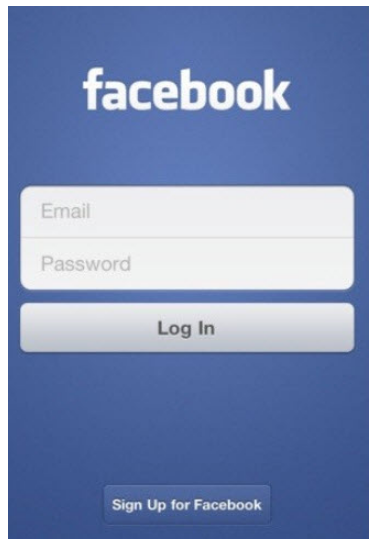 Facebook.com mobile sign up