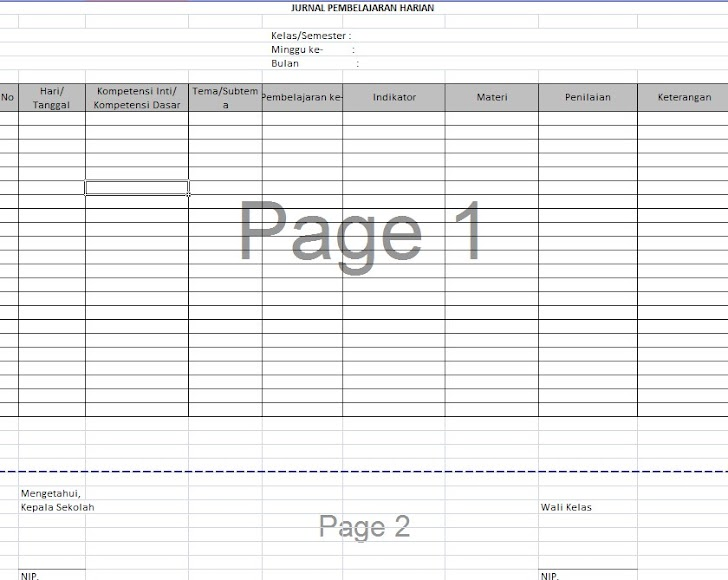 Isi Perangkat Pembelajaran Guru Contoh Format Jurnal