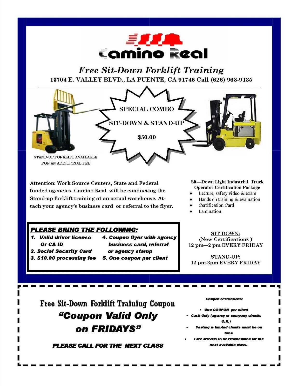 Forklift Certification Florida Free Professional Resume