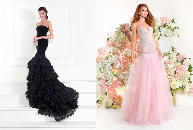 Corte Sirena En U Tul Hasta el Suelo Vestidos de Fiesta/Vestidos de Noche Con Diamante de Imitación