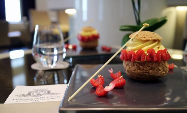 Choux d'estate al Lime e Lamponi | Excelsior Hotel Gallia, Milano