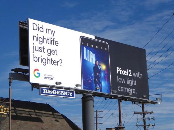 Pixel 2 low light camera billboard