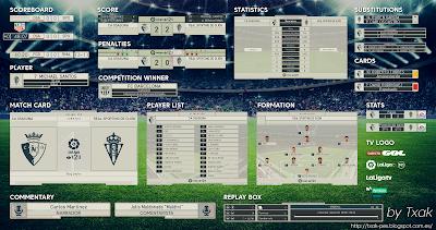 PES 2018 La Liga 1|2|3 Scoreboard by Txak