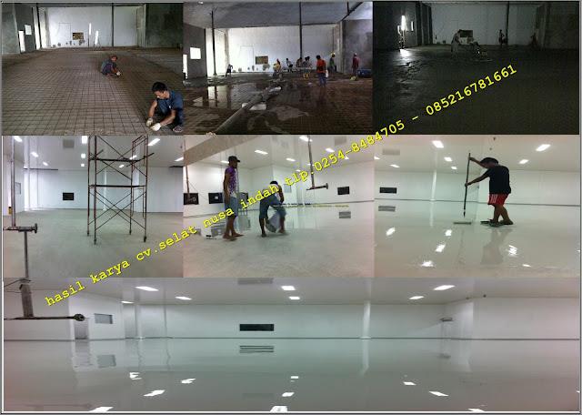 hasil karya cv.selat nusa indah.pengecoran floor hardener epoxy lantai 1000 micro