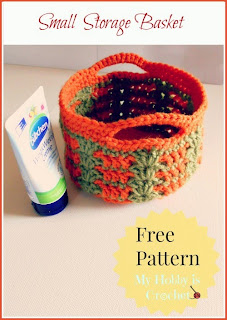 small storage basket free crochet pattern