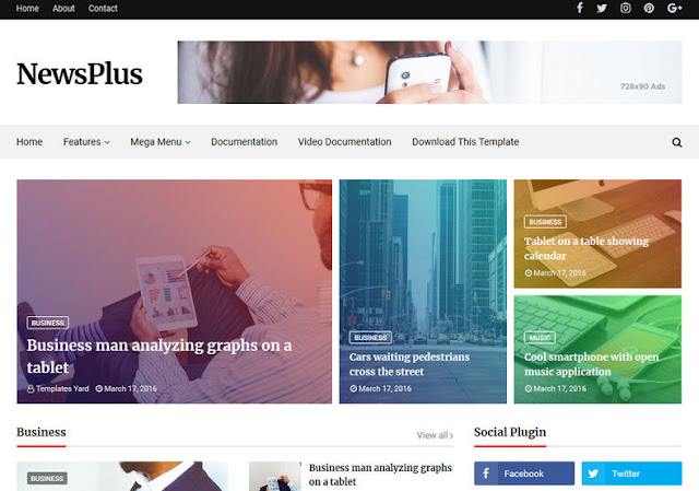 Top 5 best free Blogger template 2018 Download here best free blogger html templates.