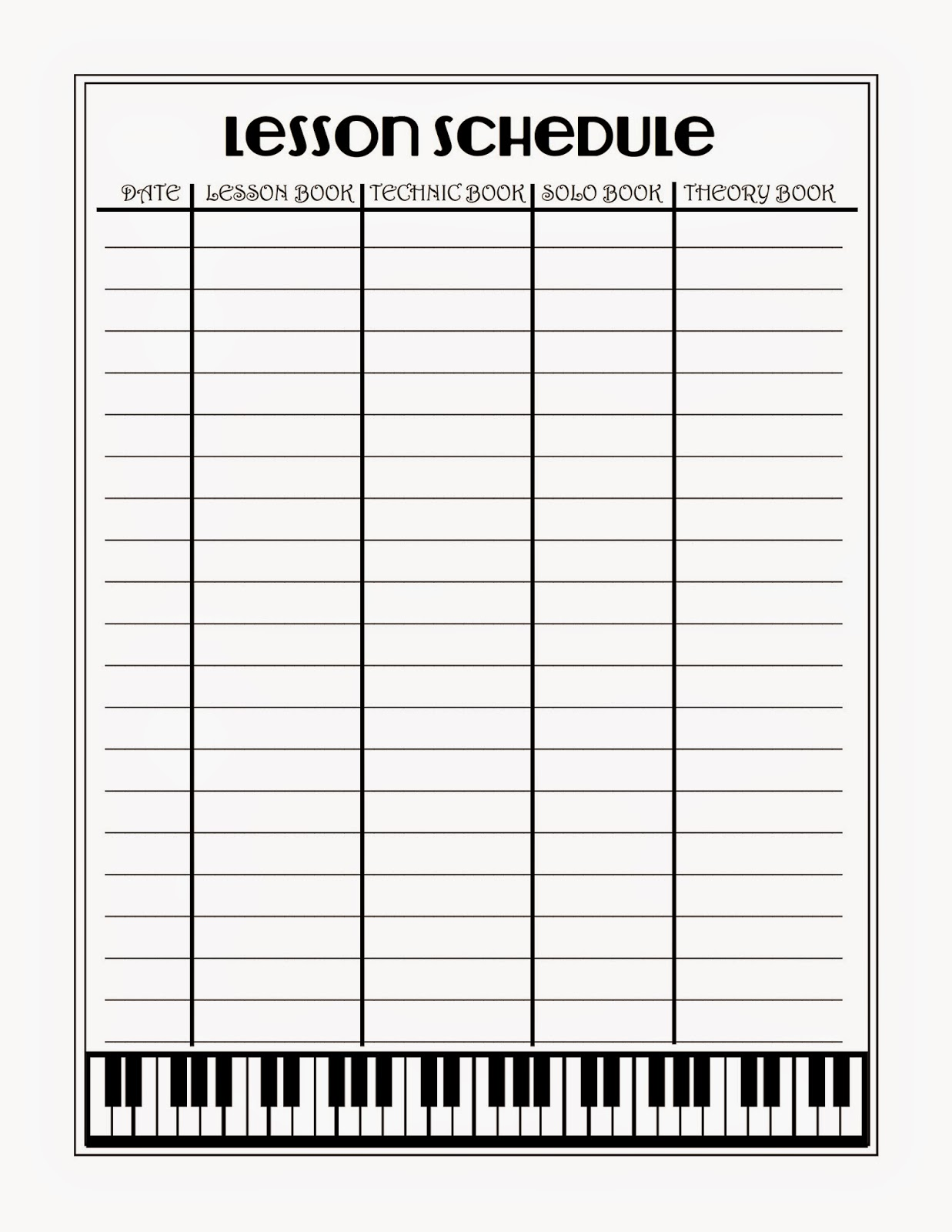 What 5 Teach Me Piano Lesson Scheduler