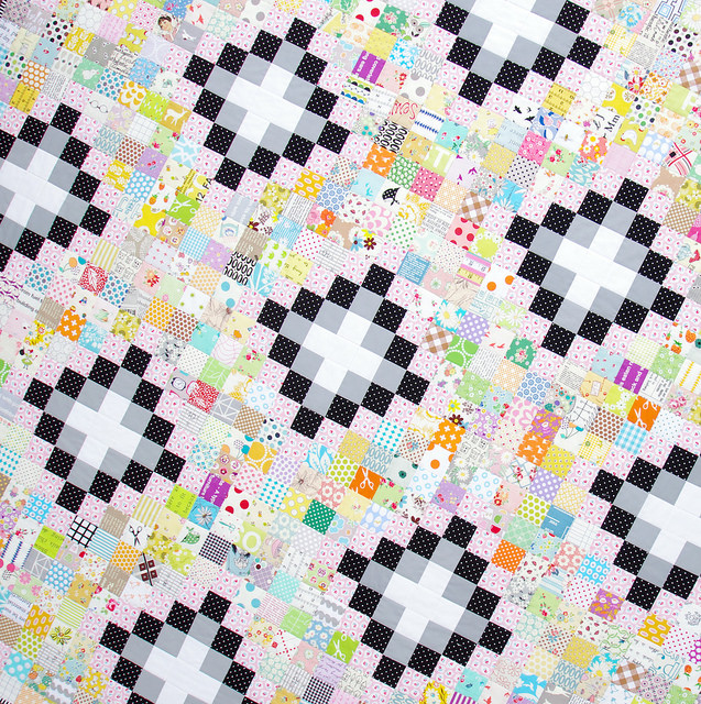 Irish Chain Scrap Buster Quilt | Red Pepper Quilts