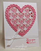 ODBD Love You Bunches, ODBD Custom Ornate Hearts Die Set, ODBD Heart and Soul Collection Designer Paper, Card Designer Angie Crockett