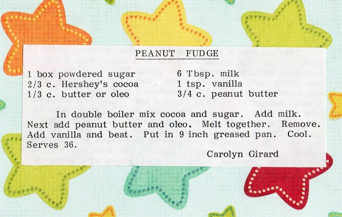 Peanut Fudge (recipe)