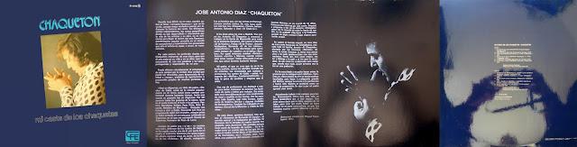 """CHAQUETÓN, MANOLO SANLÚCAR """"MI CASTA DE LOS CHAQUETAS"""" CFE LP SEGUNDO DISCO LARGA RURACIÓN DEL CANTAOR GADITANO"""