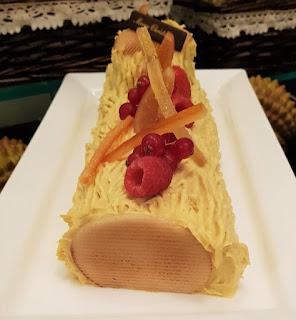 Mao Shan Wang log cake.