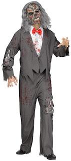Men's Zombie Groom Adult Costume - Standard for Halloween