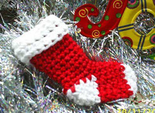 Crochet Christmas stocking Pattern.