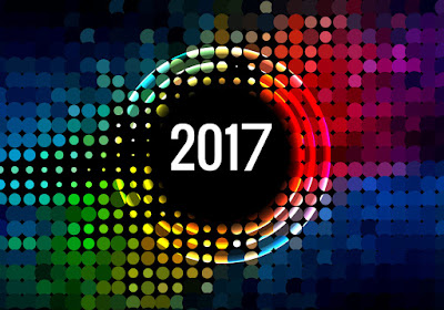Happy New Year 2017 Colorful Wallpaper 1024x768
