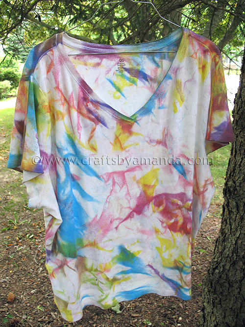 Fabric Painted Tie Dye Shirts Crafts By Amanda