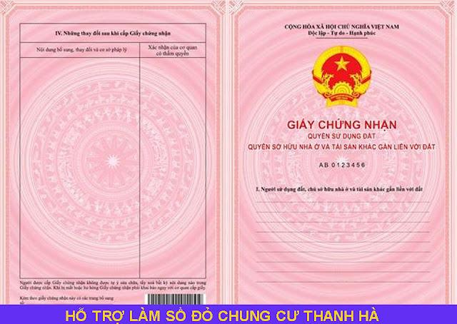 Hỗ trợ làm sổ đỏ chung cư Thanh Hà Mường Thanh
