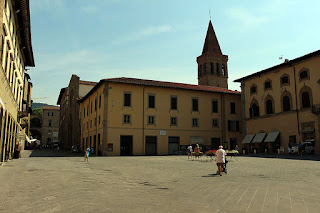 The central square in Sansepolcro, Tuscany