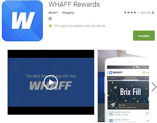 Instal whaff reward untuk mendapatkan uang dollar dari internet