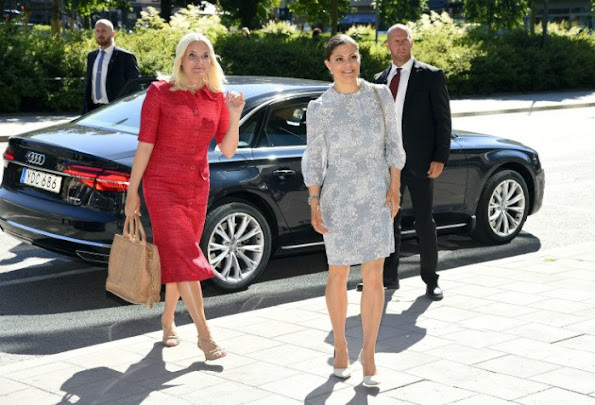 Crown Princess Victoria of Sweden and Crown Princess Mette-Marit of Norway attend EAT Stockholm Food Forum at the Clarion Hotel