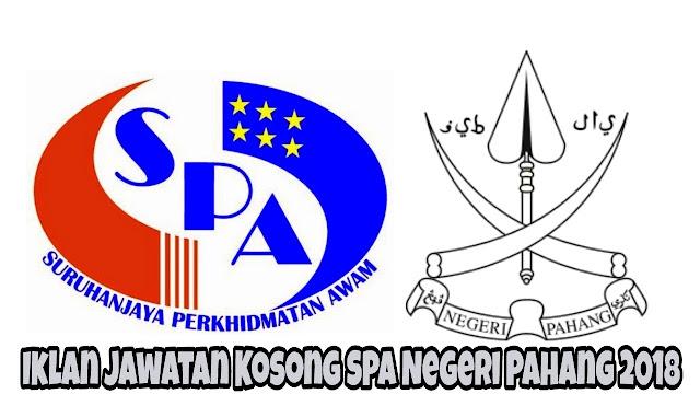 Iklan Jawatan Kosong SPA Negeri Pahang 2018