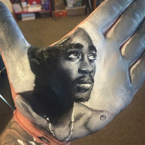 01-2Pac-Tupac-Shakur-Russell-Powell-Hand-Body-Painting-Transferred-to-Paper-www-designstack-co