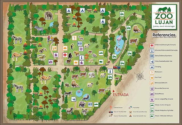 Estrutura do Zoológico de Luján em Buenos Aires