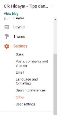 klik setting, other